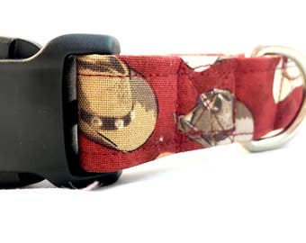 Western Dog Collar/Cowboy hat dog collar/Male Dog Collar/Red Dog Collar/Girl Dog Collar/Americana Summer Dog Collar/ Dog Collar