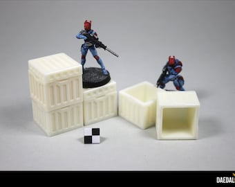 5 hollow crates for tabletop miniature games