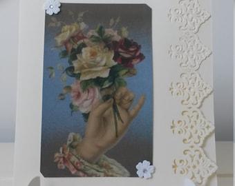 Vintage  Style Victorian Greetings card