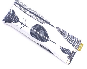 FEATHER YOUR NEST Linseed/Flaxseed Eye Pillow Scented_100% Cotton_Gift Box_Yoga