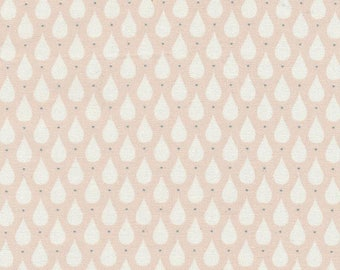 Au maison oilcloth Teardrops soft rose pink coated cotton
