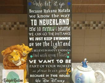 We Do Disney Wood Sign