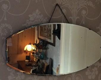 Vintage Beveled Edge Art Deco Mirror  1930-40s