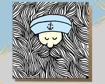 Sailor Beard Card