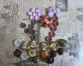USSR buttons, vintage button, sewing accessories, handmade accessory, button set, button mix, colorful buttons, craft buttons