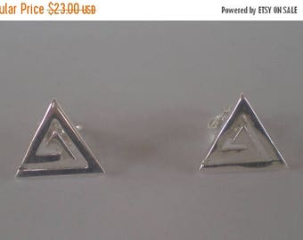 For Sale Ancient Greece Meander Sterling Silver 925 Earrings - Symbol Of Infinity-Quality