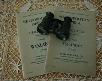 2 Lot Vintage METROPOLITAN OPERA Theatre Books 1926 Turandot & 1952 Wozzeck Drama Acts Scenes PAMPHLET leaflet English Translation