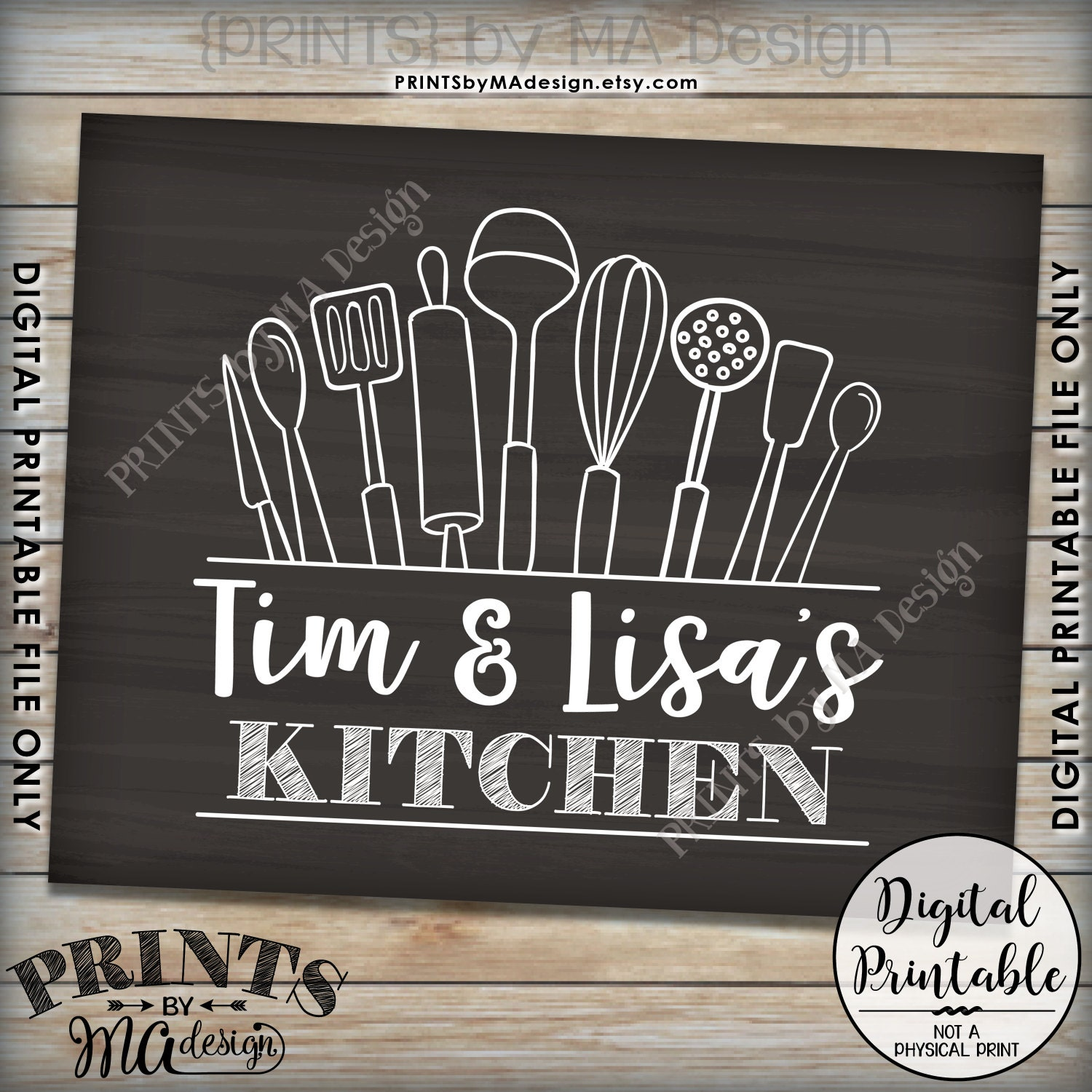 15 Whimsical Kitchen Designs With Chalkboard Wall: Kitchen Sign, Kitchen Decor Wall Art, Custom Kitchen