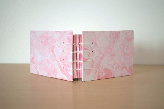 A6 blank notebook, Small notebook gift, A6 journal gift, Pocket notebook, Cute small notebook, Handmade notebook, Marbled journal