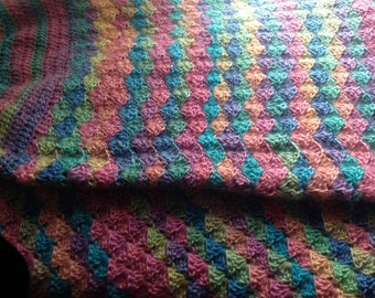 Crochet mermaid cocoon blanket Child 6+