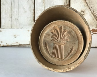 Antique Butter Mold Wheat Stalk