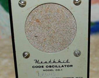 1964 Heathkit CO-1 Code Oscillator  Works Great!