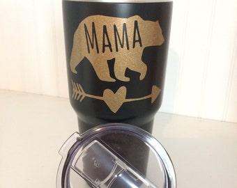 On sale!! READY TO SHIP! Mama Bear 30oz Powder Coated Tumbler