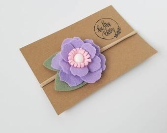 RTS - Purple Jane Bloom Headband