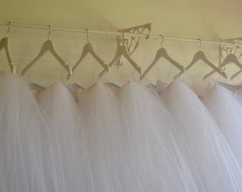 Girls tutu, Long/Calf length white tutu, flower girl tutu skirt, tutu dress, tea length tulle skirt, tutu skirt, flower girl dress