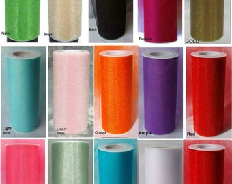 "10 Lot SHIMMER GLIMMER TULLE Fabric Spool Roll 6"" X 25 Yds Mix or Match Tutu Costume Wedding Bridal Bows Ribbon"