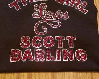 Scott Darling Rhinestone Ladies Vneck Shirt