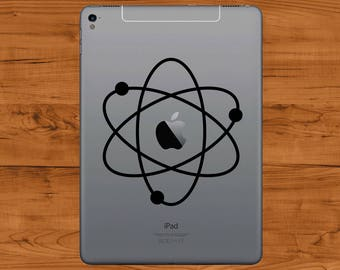 Big Bang Theory Atom - Apple iPad Vinyl Sticker - Atomic Whirl in Various Colours