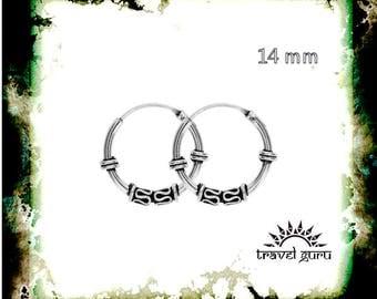 Silver earring / tribal silver rings