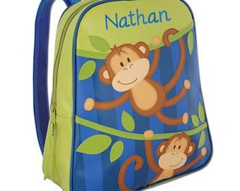 Monogram Monkey Go Go Preschool Backpack