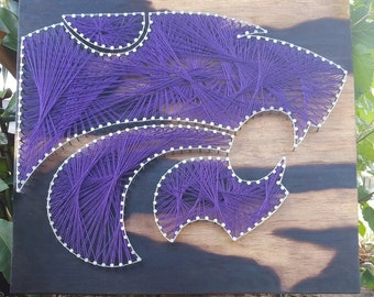 Kansas State University Wildcats Wood String Art Wall Home Decor