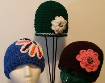 Girl Scout Crochet Hats. Daisy Hat. Brownie Hat. Junior Hat. Scouting Wear. Girl Scout Accessory.