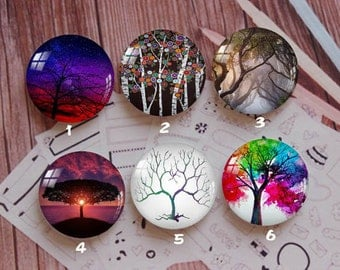 Handmade Round Photo glass Cabochons,8mm -58mm size Cute Animal Style Butterfly More-ZY874