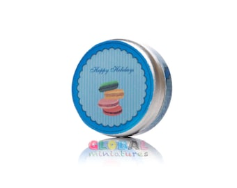 Dollhouse Miniatures Blue Happy Holiday Cookies Box