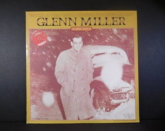 """Glenn Miller """"Pure Gold"""" Vintage Vinyl LP, Big Band Swing Music / Jazz  / Original Recordings reprocessed from Mono to Stereo / Orchestra"""