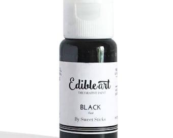 FAST SHIPPING!! Black Edible Art Paint, Edible Food Color, Black Food Color, Edible Water Color