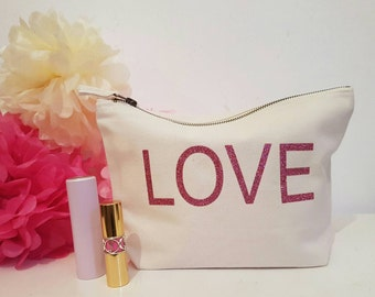 Makeup bag,Valentines gift,mothers day gift,wedding gift,purse,bridal gift,love