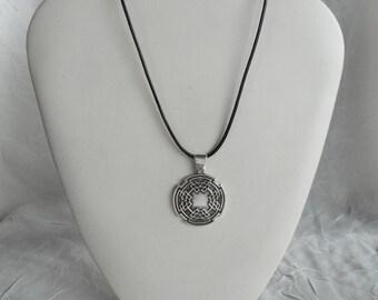 Sterling Silver Men's Celtic Shield Medallion Men's Celtic Pendant Made in Montana Anniversary Gift for Husband Birthday Gift for Dad