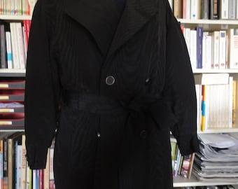 BLACK TRENCH COAT by Jean-Louis Scherrer