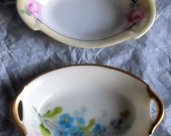 2 Vintage Individual Nut Dishes or Large Salts, Germany & Austria