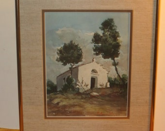 Original Watercolor Landscape Painting, Artist Signed And Titled