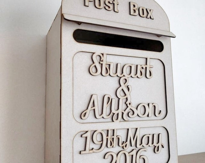 Personalised wedding postbox