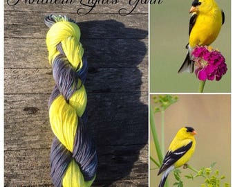 Goldfinch hand-dyed cotton yarn