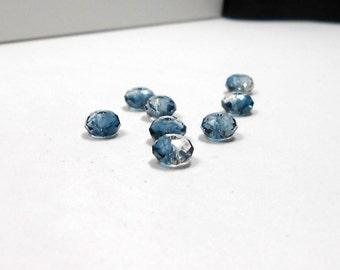 8 Crystal Montana Blue Swarovski Briolettes, 6mm, Swarovski, Briolettes, Bead Supply, Jewelry Making, Jewelry Design, Montana Blue, Crystal