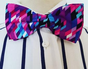 Retro bow tie bright bold design Made in England