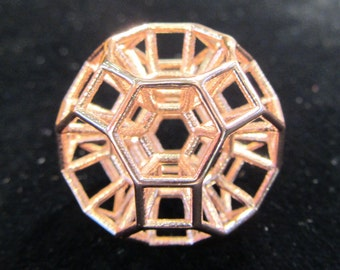 432 Hz Resonance Portal * StarGate Sacred Geometry Pendant / Talisman / Phi Harmony golden ratio Amulet < Brass Silver Rose Gold 14k 18k