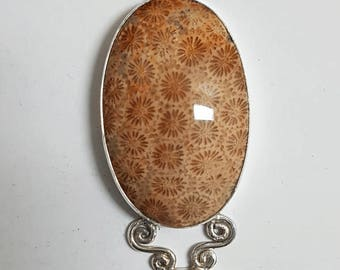 Fossil Coral Pendant #21