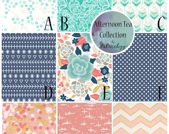Floral Nursery Set / Crib Set / Baby Girl Bedding - Afternoon Tea Collection by Fabricology - Baby Girl Gift / New Mom Gift / Baby Shower