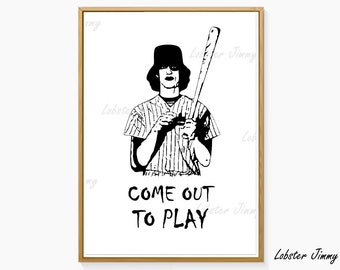Warriors Poster, Baseball Furies, Come Out to Play, The Warriors Movie, Gangs of New York, Baseball, Cult Movies, Instant Download