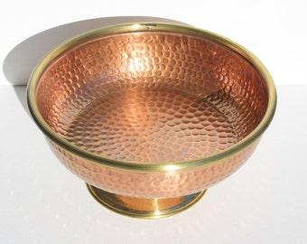 Fruit bowl fruit bowl//copper craft centerpiece. Handmade. Medium size