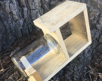 Squirrel feeder small glass