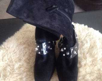 FREe SHIPPINg Vintage DSQUARED COUTURE MOTORCYCLE BOOTs