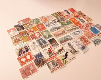 50 Postage Stamps from Denmark