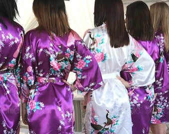 BRIDESMAID ROBES, Bridesmaid Gifts, Set of Bridesmaid Robes, Bridesmaid Robe, Bridesmaid Gift, Kimono Robe, Wedding Robes, Set of Robes