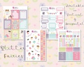 Glitter Fairies - Planner Stickers, Kikki.K, Filofax, Happy Planner, Horizontal, Vertical