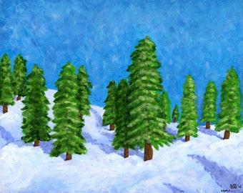Winter: Original Painting 8x10